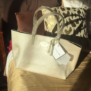 Michael Kors glamorous gold tote with tassels New!